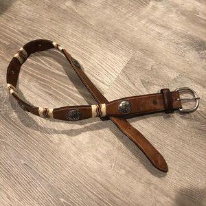 """Tony Lama medallion leather belt 30"""""""